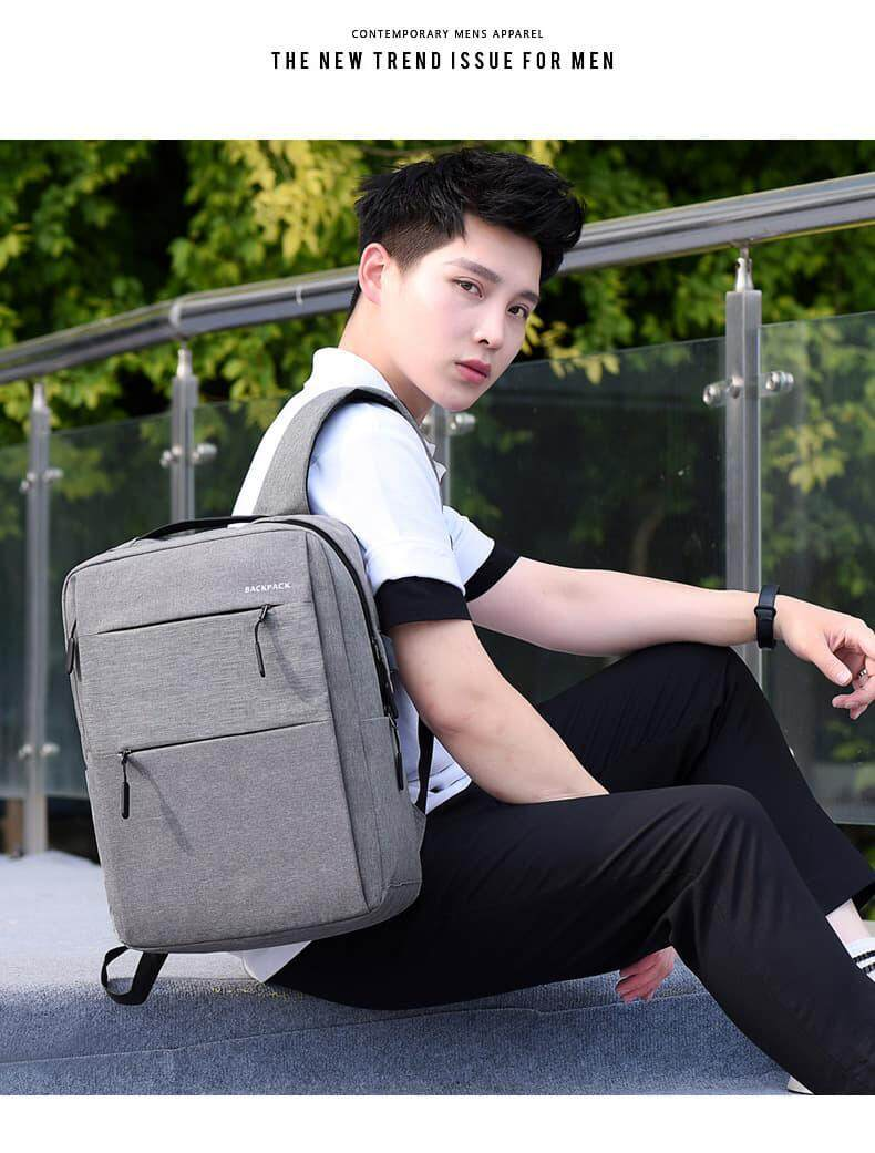 [M'sia Warehouse Direct] 2020 Korean Series Laptop Backpack Water Resistant Unisex Business Bag Travel Sling Student Bag Euro Italy Designer Perfect Gift For Love One Fit For Macbook Ipad Tab Free Gift USB