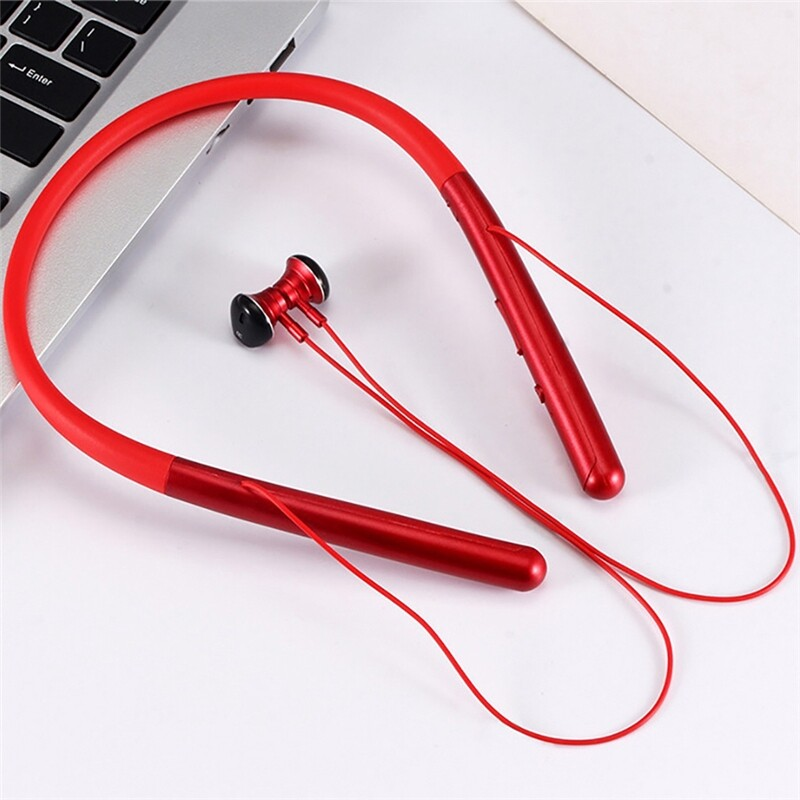 On-Ear Headphones - M20 WIRELESS BLUETOOTH 5.0 Earphone Neckband Magnetic Sports Stereo Headphone Head SET with - RED / BLACK / SILVER