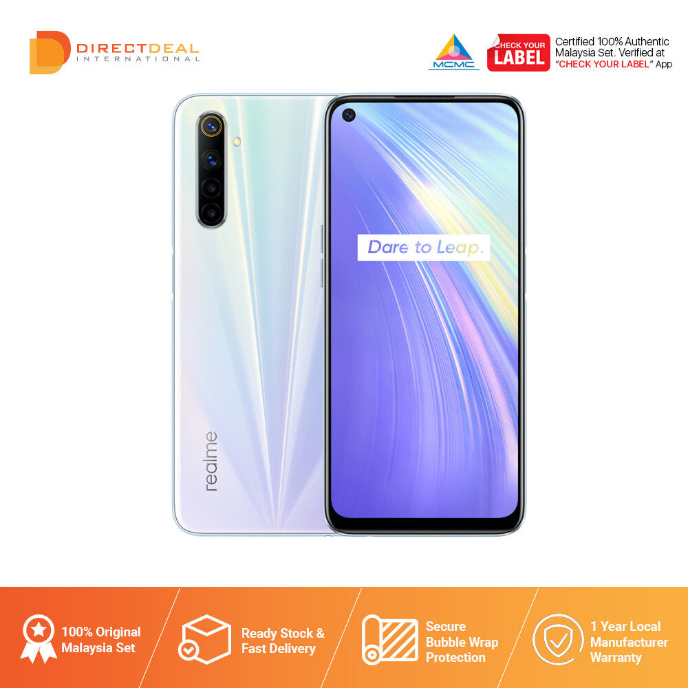 8.8 Realme 6 8GB+128GB Smartphone 1 Year+6months Warranty By Realme (MY SET)