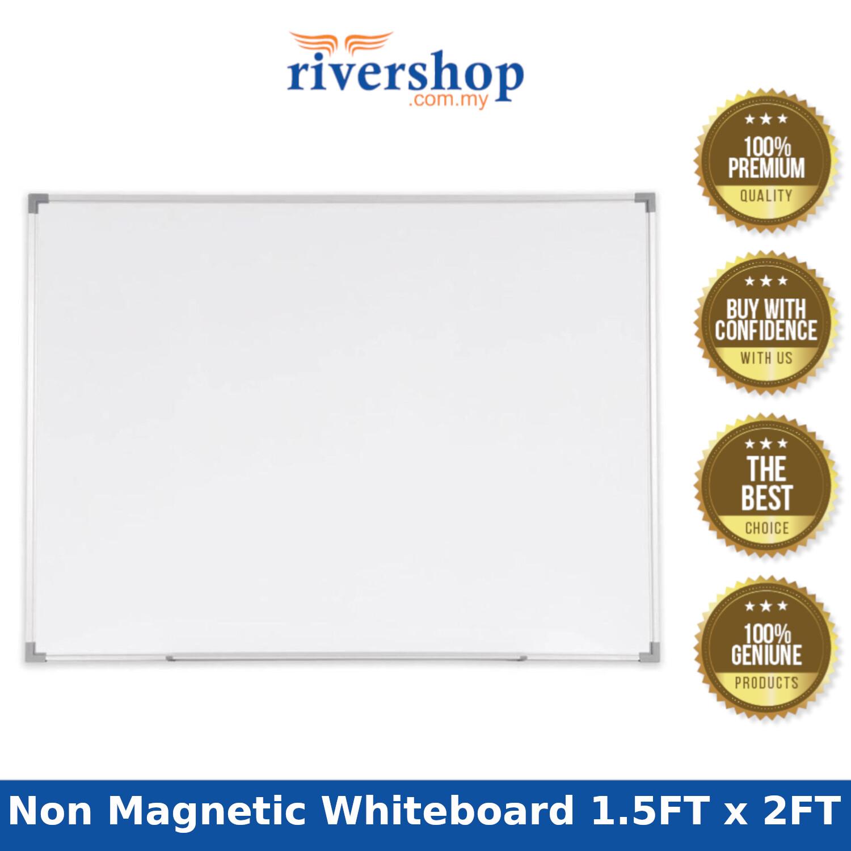 Non Magnetic Whiteboard Aluminium Frame SN15 - 45cm x 60cm (1.5FT x 2FT)