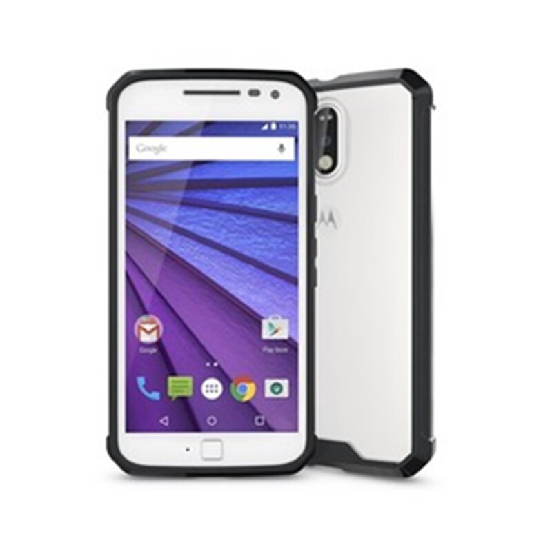 360 Degree Full Body Soft Clear TPU Case Cover For Motorola Moto G4/G4 Plus Gift - BLACK / GREEN / PINK / CLEAR
