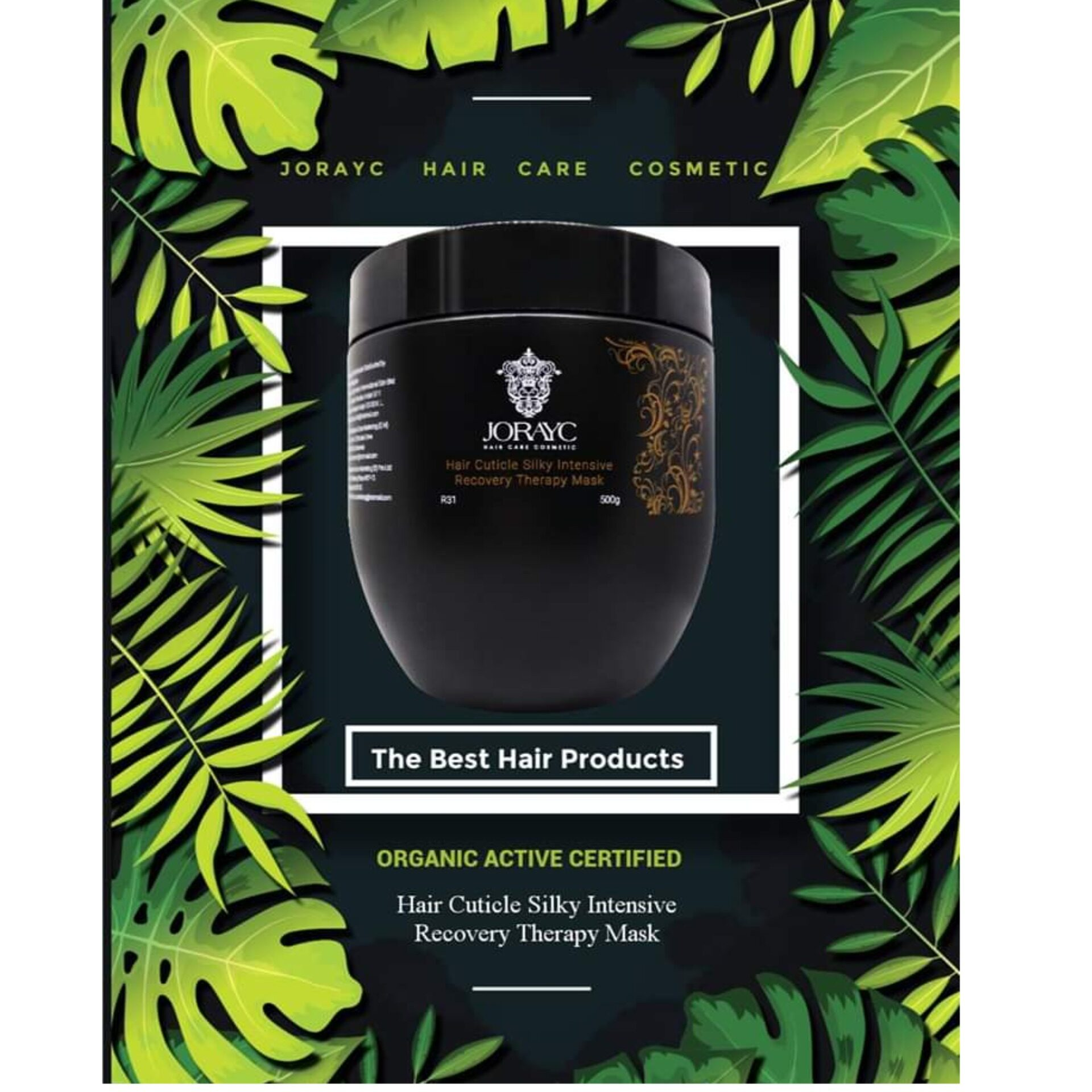 Jorayc Hair Cuticle Silky Intensive Recovery Therapy Mask 500ml