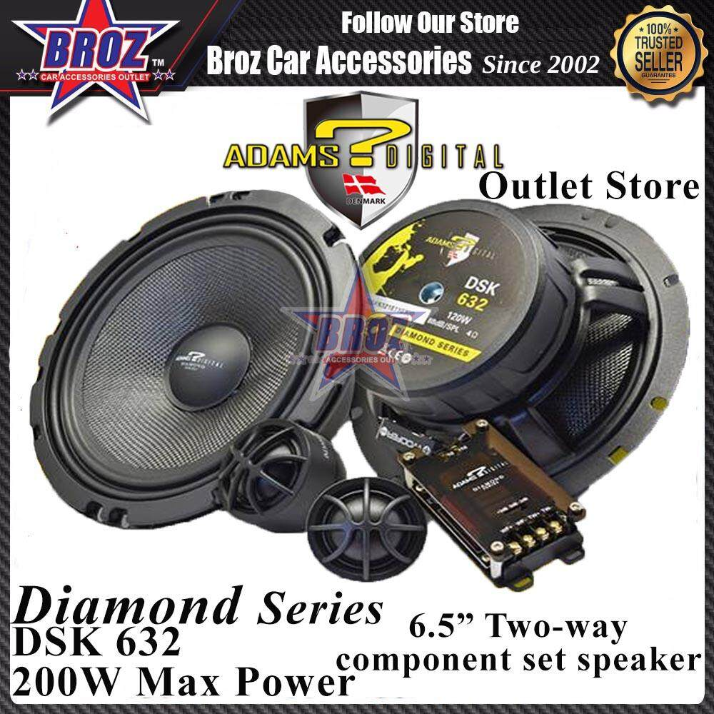 Adams Digital Diamond Series DSK-632 6.5inch 2-Way Component Set Speaker 200W Max Power