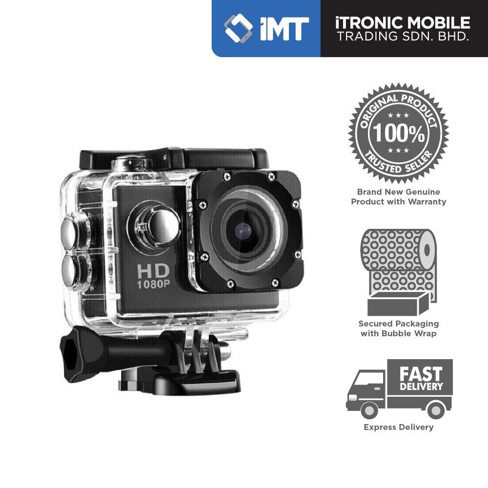 Waterproof 1080P Sports Action Camera - Black