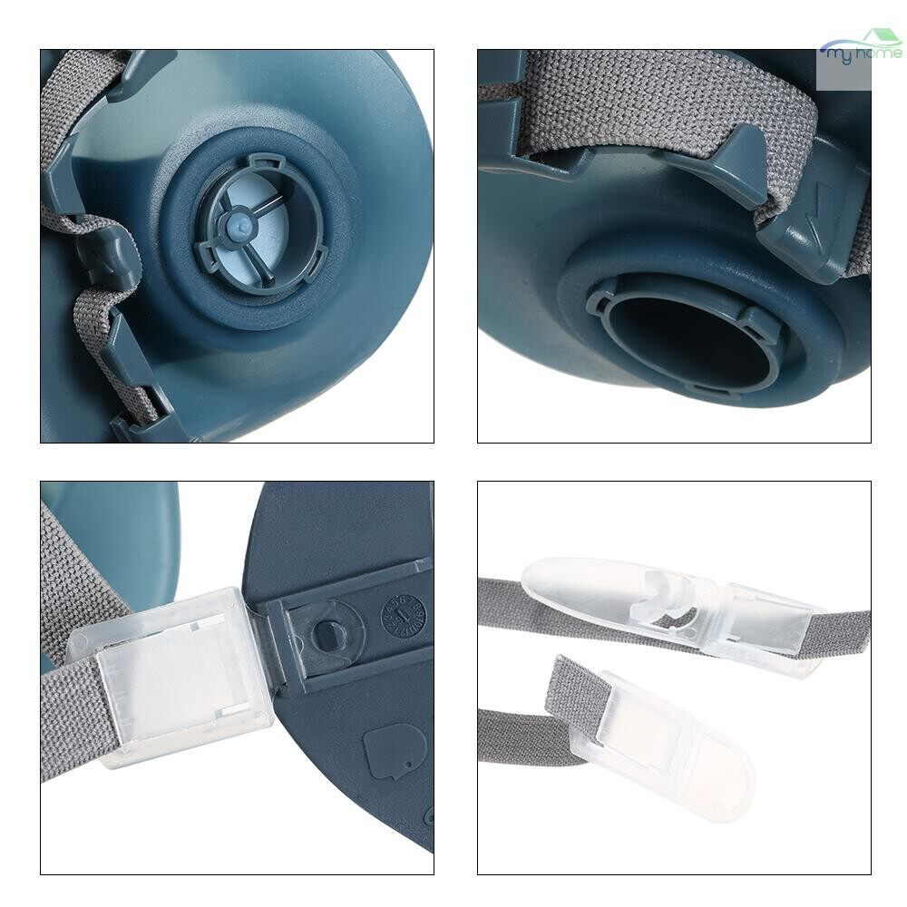 Protective Clothing & Equipment - 8200 Half Face Gas Mask Respirator Organic Gas Protection Dust-proof Mask Anti Haze Painting - BLUE & GREY