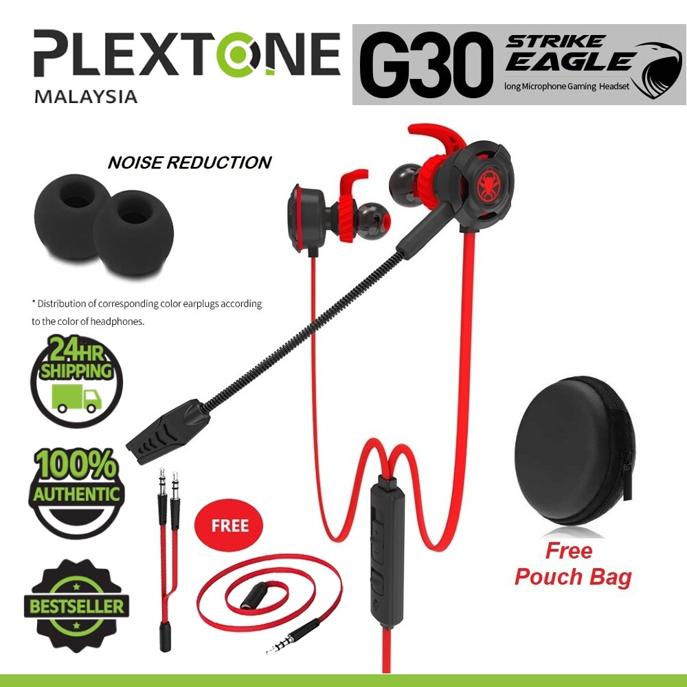 PLEXTONE G30 In Ear Earphone Headphone Gaming Earphones Stereo Computer Game Headphones With Mic PC Gamer Headset for Mobile Phone PS4 New Xbox One
