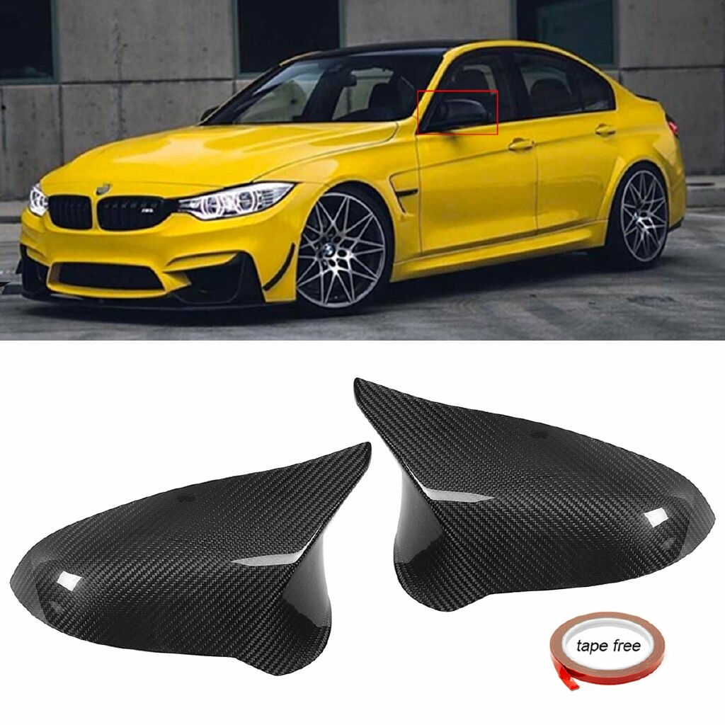 Automotive Tools & Equipment - ADD-ON Carbon Fiber Side Door Mirror Cover Caps for BMW F80 M3 F82 M4 2015- - Car Replacement Parts