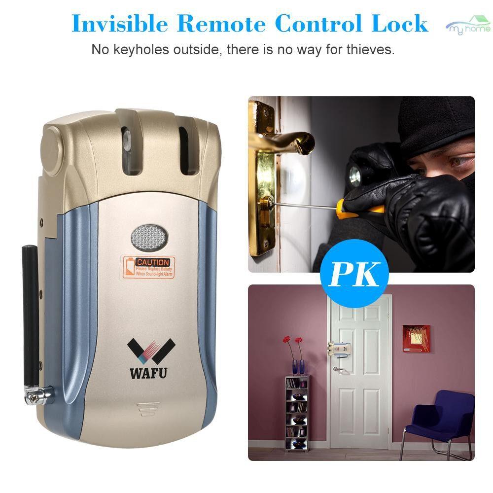 Chains & Locks - WAFU HF-008W WiFi Intelligent Electronic Lock Tuya / SmartLife Lock Remote Control Invisible - BLUE & GOLD-4 KEYS / BLUE & SILVER-4 KEYS / SILVER-4 REMOTE KEYS / BLUE & GOLD-2 KEYS / BLUE & SILVER-2 KEYS / SILVER-2 REMOTE KEYS