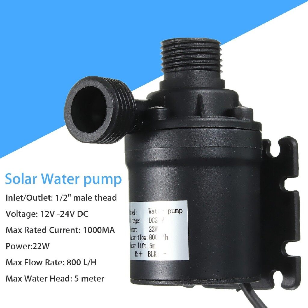 Moto Accessories - DC 12V-24VWater Circulation Solar Water Pump Submersible Brushless Motor - Motorcycles, Parts