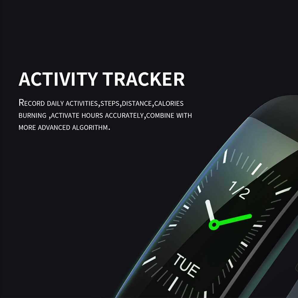 "Best Selling 0.96"" Smart Bracelet Blood Pressure & Heart Rate Monitor with Alarm Function Female Function IP68 Water-resistance Fitness Tracker Sport Bracelet Watch (Black)"