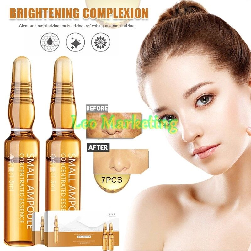 Leo Marketing 100%Original 7pcs Dark Spot Corrective Ampoule Essence Serum Moisturizing Hyaluronic Acid Anti Wrinkle Skin Care