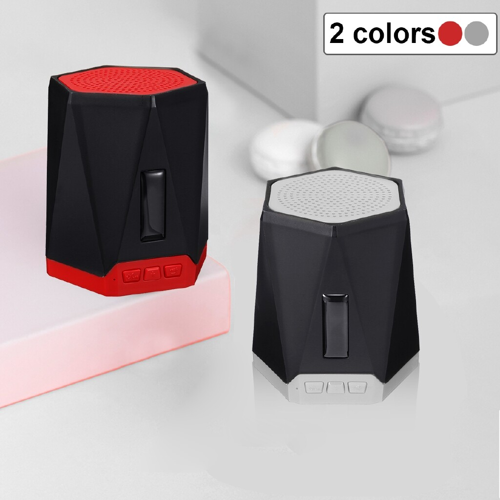 Car Stickers - MINI WIRELESS V4.2 BLUETOOTH Speaker Waterproof Outdoor Super Bass Stereo USB-3c - BLUE / RED