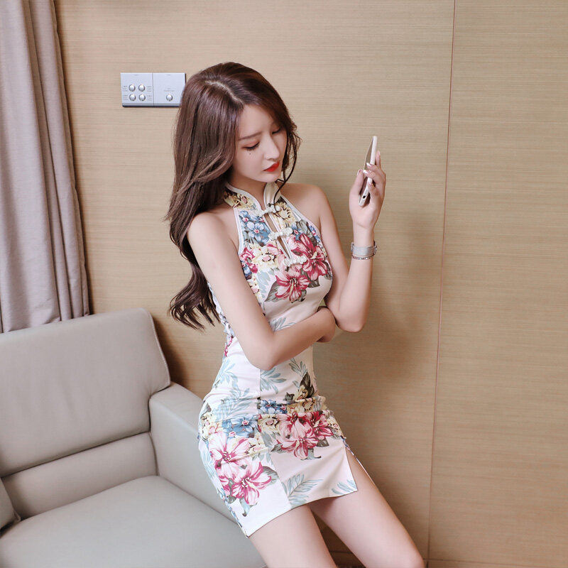(PRE ORDER) WOMEN SUMMER FASHION CHEONGSAM SLEEVELESS