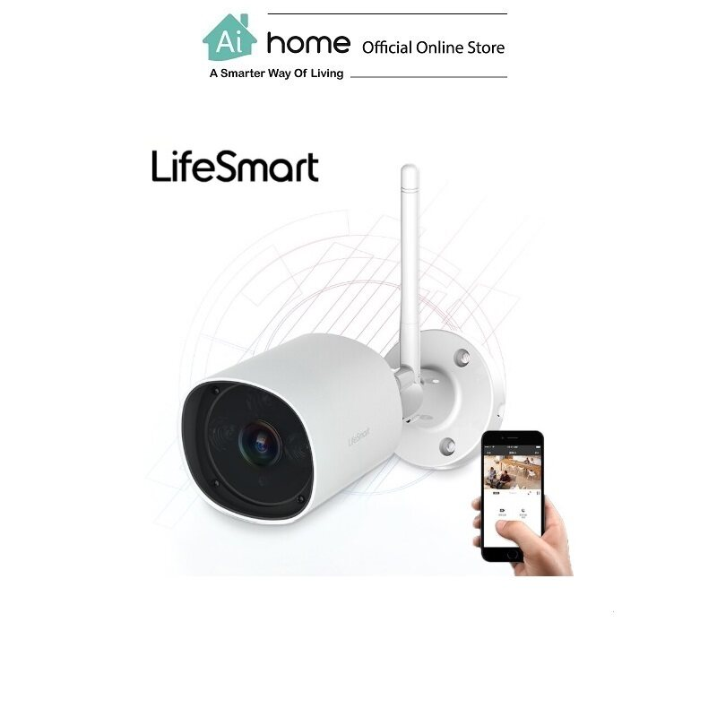 Lifesmart HD Wireless Waterproof Outdoor Camera with 1 Year Malaysia Warranty [ Ai Home ]