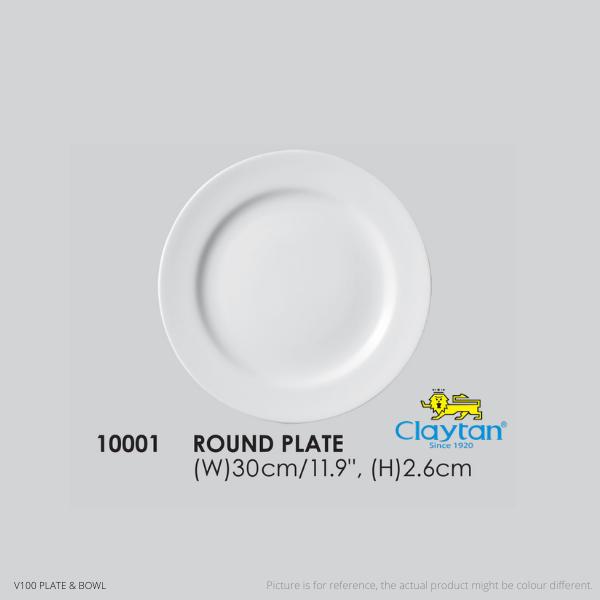 CLAYTAN-VC Hotelware-Tableware-Plate-Bowl-Plain White