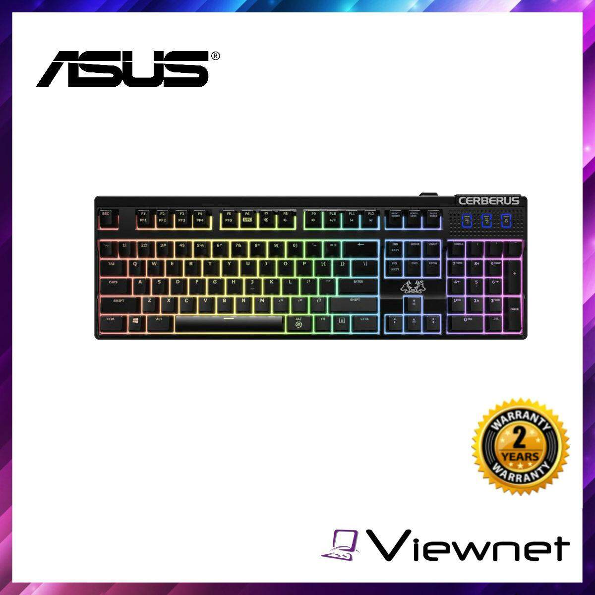 ASUS KEYBOARD WIRED CERBERUS MECH RGB MECHANICAL BLUE SWITCH