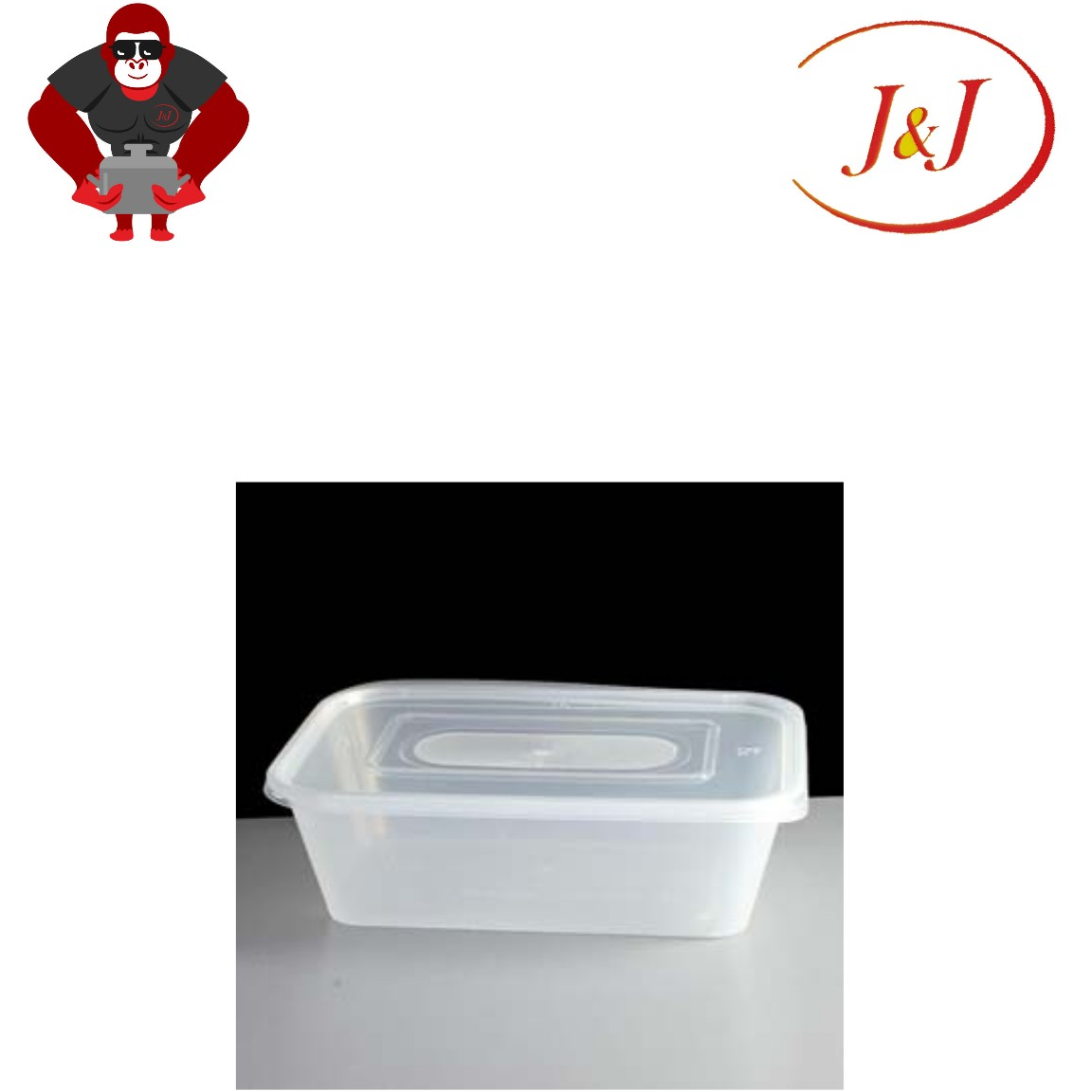 1 PKT - 50\'s T-1500 Rectangle Microwave Container, 1500ML