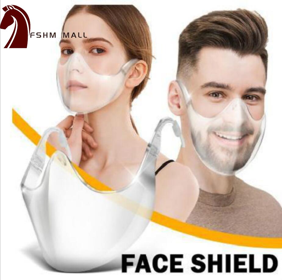 [Ready Stock]PC Protective Mask Transparent Half Face Mask Type Mask Anti-fog and Anti-splash Goggles