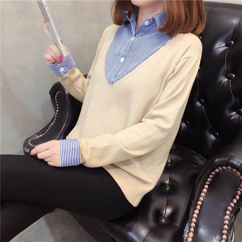 (Pre Order14 Days JYS Fashion Korean Style Women Knit TopCollection525-9421col526-9421--Khakis-S