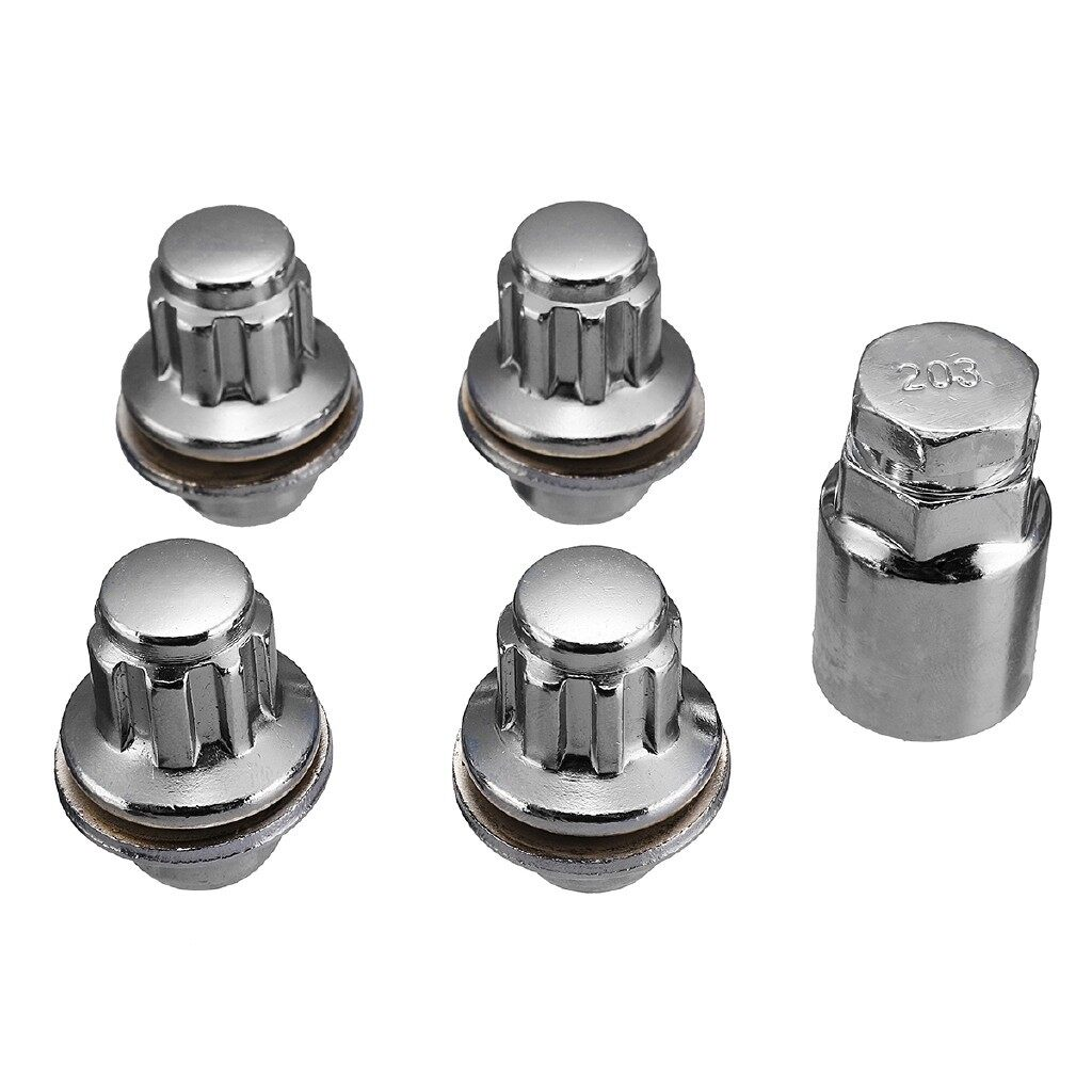 Automotive Tools & Equipment - 4+1 Aluminum Alloy Standard Locking Wheel Bolt Nuts M12 x 1.5 For Toyota 36mm - Car Replacement Parts