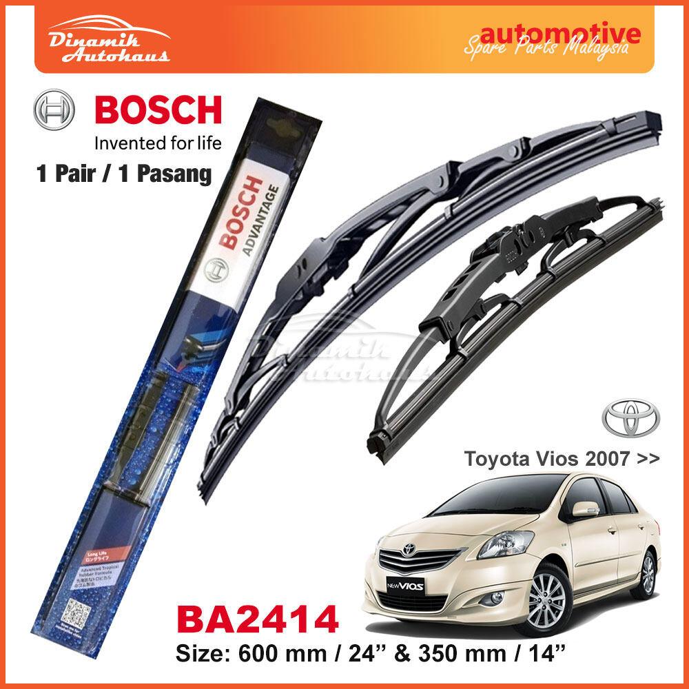 Toyota Vios Car Year 2007+ Windshield Wiper Blade 24  / 14  Bosch Advantage BA2414