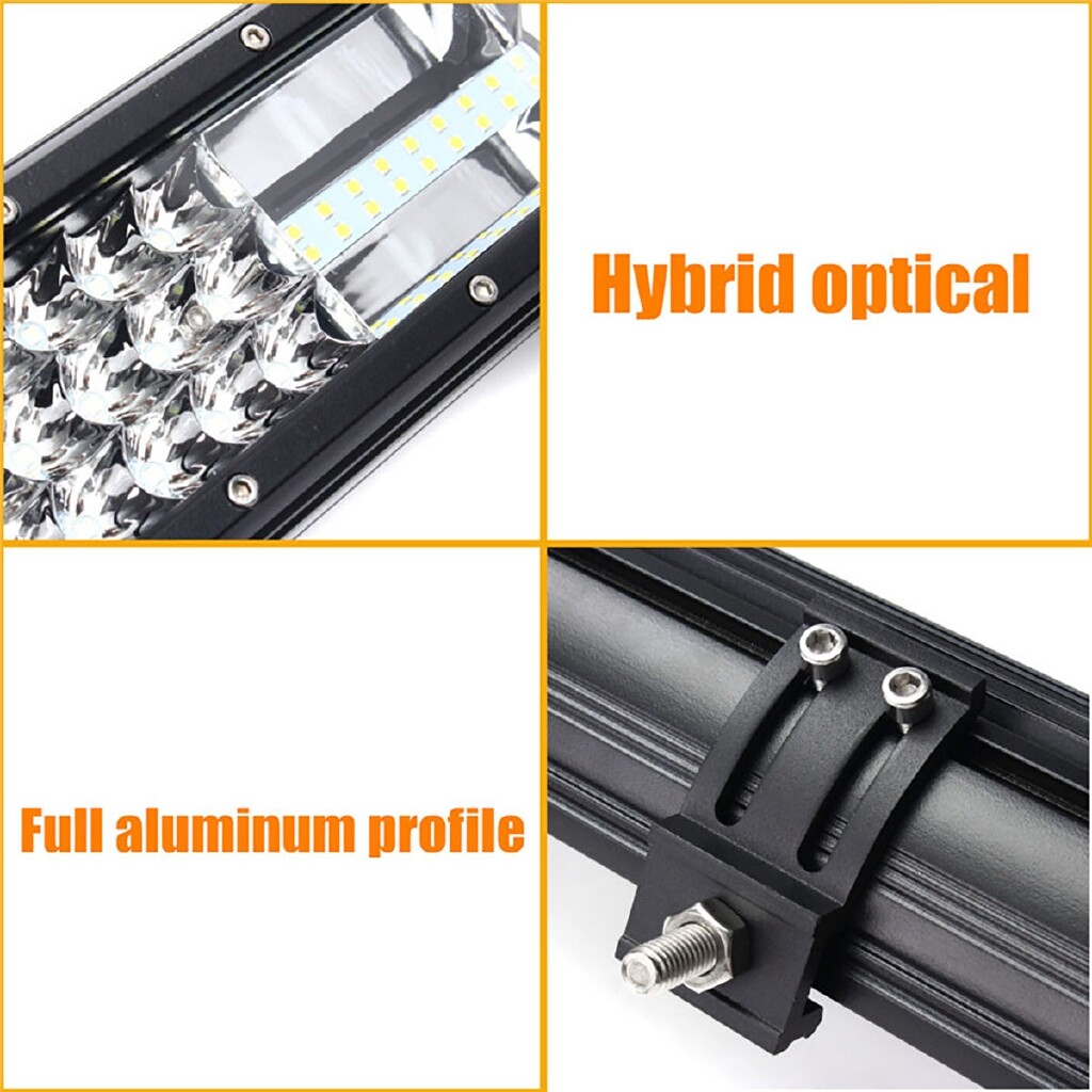 Car Lights - 4850LM 11.5 Inch 162W LED Fit 12V or 24VWork Light Bar Flood Spot Driving Lamp Car Offroad Truck - Replacement Parts