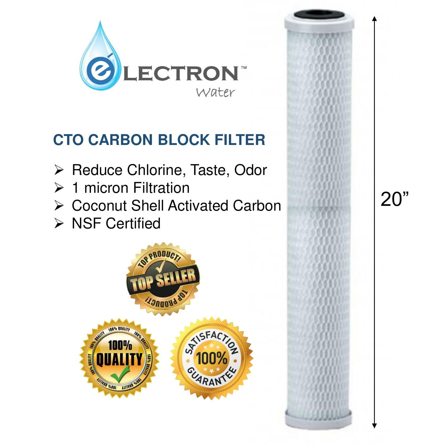 [1box=16pcs] 20 inches High Quality CTO Carbon Block Filter *HALAL* [HOT SELLING] USA TECHNOLOGY