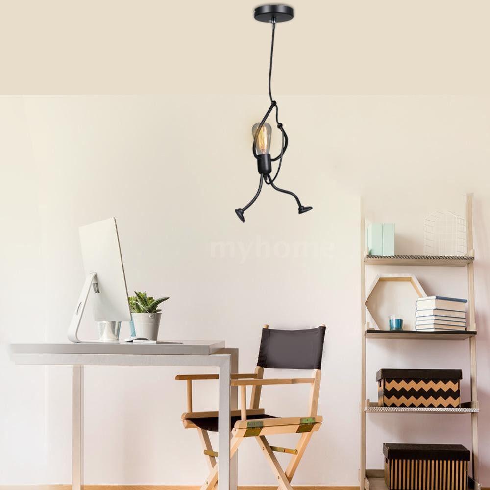Lighting - AC100-240V Iron Man Chandelier Modern Art Lamp Holder - #