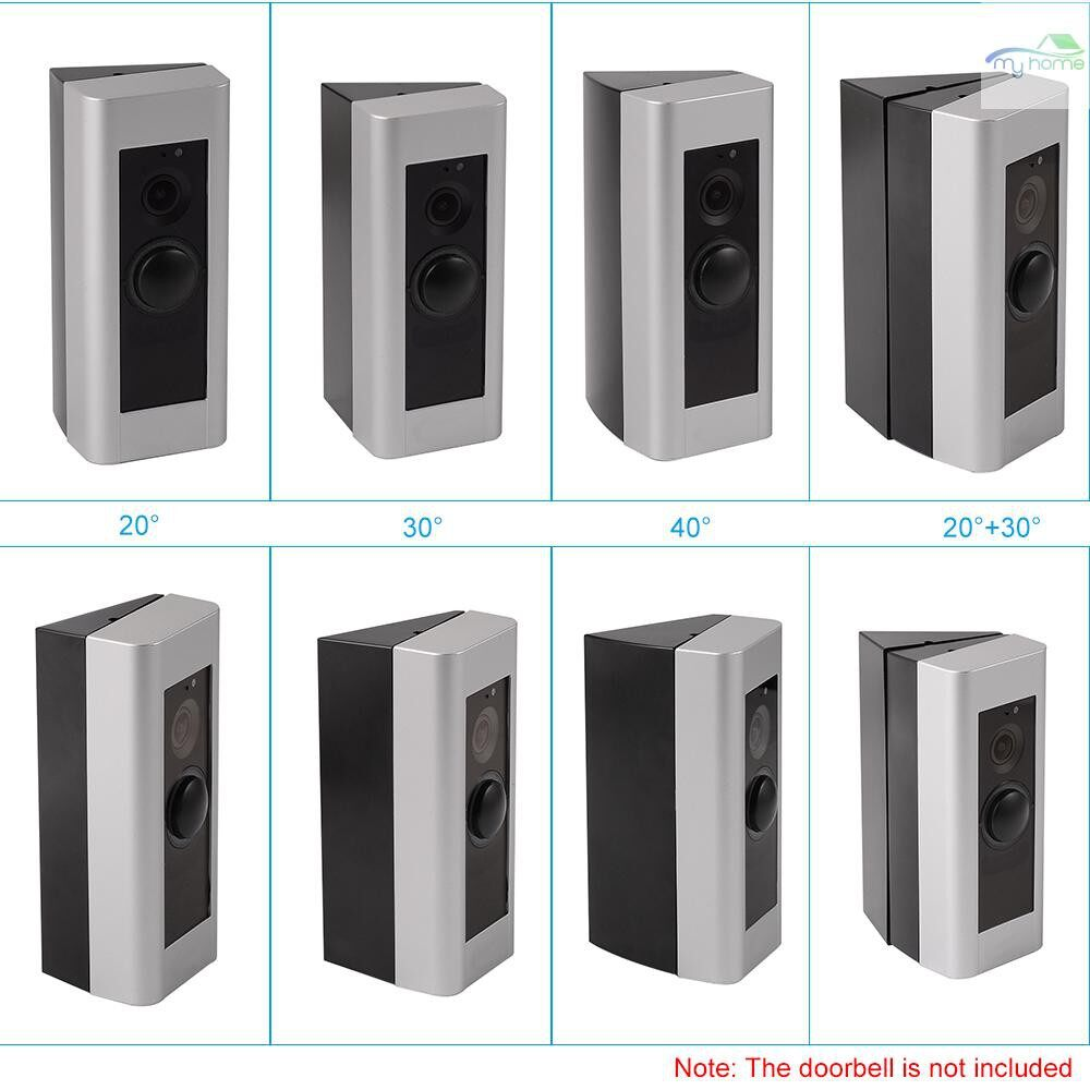 Monitors - Adjustable Angle Doorbell Bracket for Ring Video Doorbell Pro More Angle Choices Black - #