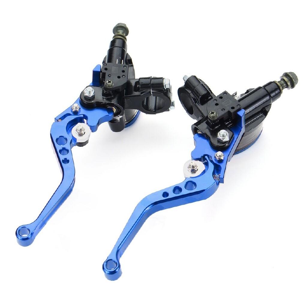 Moto Accessories - 2 PIECE(s) CNC Aluminum Motorcycle Scooter Street Dirt Bike Handlebar Oil Reservoir - BLUE / RED / BLACK
