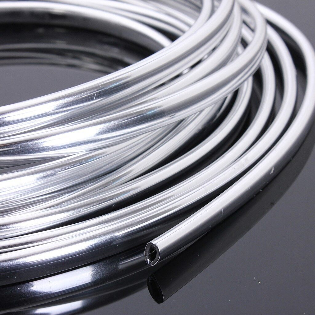 Tyres & Wheels - 6-Meter Chrome Moulding Trim Strip Car Door Edge Scratch Guard Protector Cover - Car Replacement Parts
