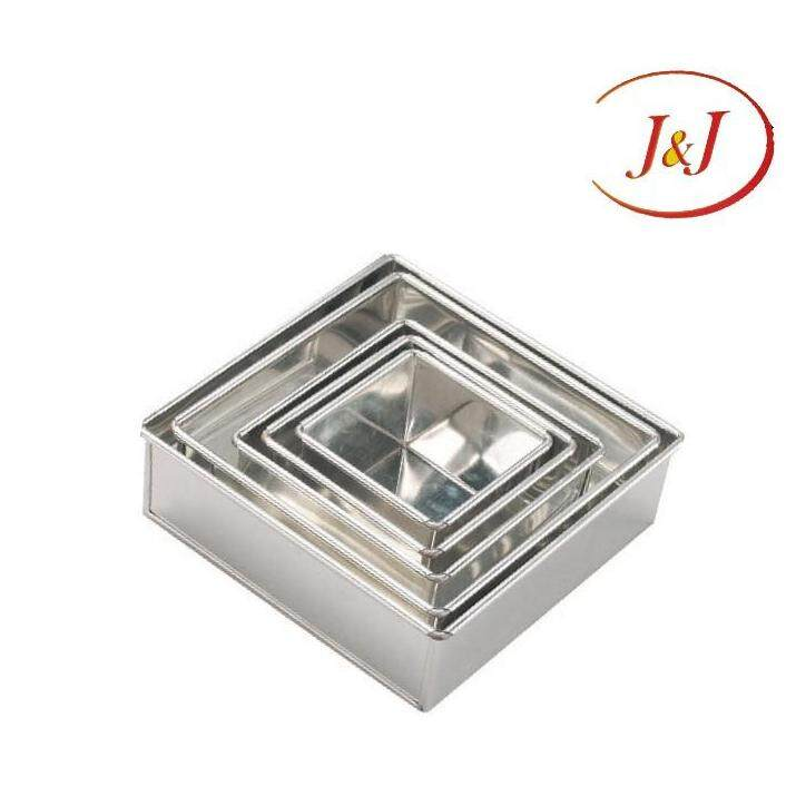 """Stainless Steel Square Cake Tin,10"""""""