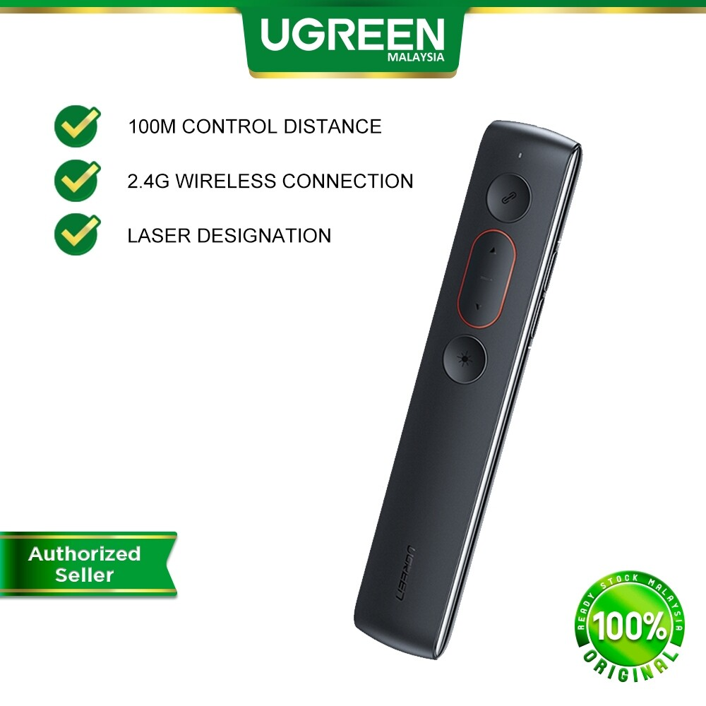 UGREEN Laser Office Wireless Presentation Remote Controller Presenter Wireless USB Control Pen For Mac Win 10 8 7 XP Powerpoint PPT