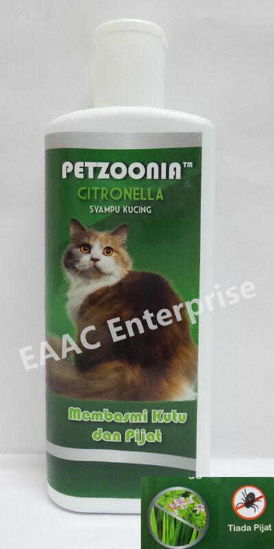 PETZOONIA CITRONELLA FLEA And TICKS PET SHAMPOO 300ML Syampu Kucing