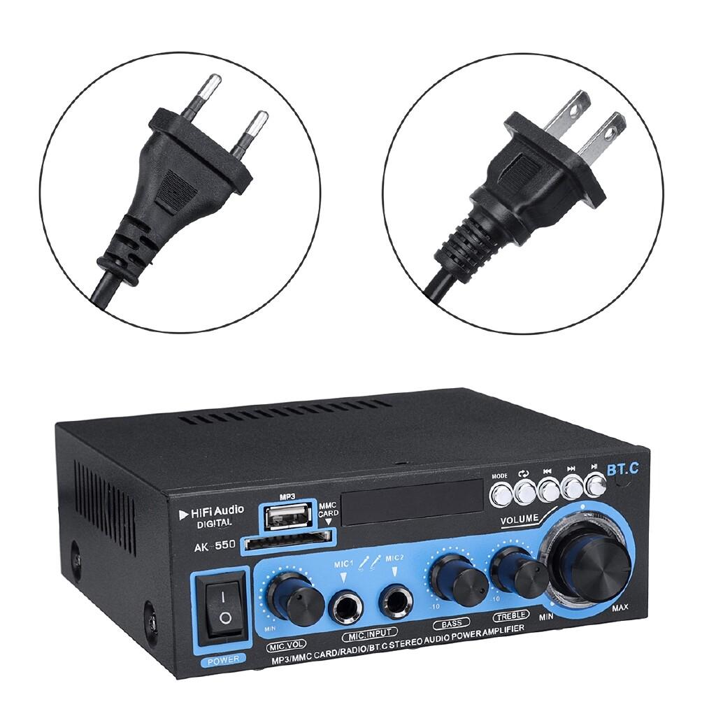 Amplifiers & Receivers - 800W LED Home Car Power Amplifier Audio Receiver MP3 Player FM Radio AMP Remote - US - / EU 220V- 220V