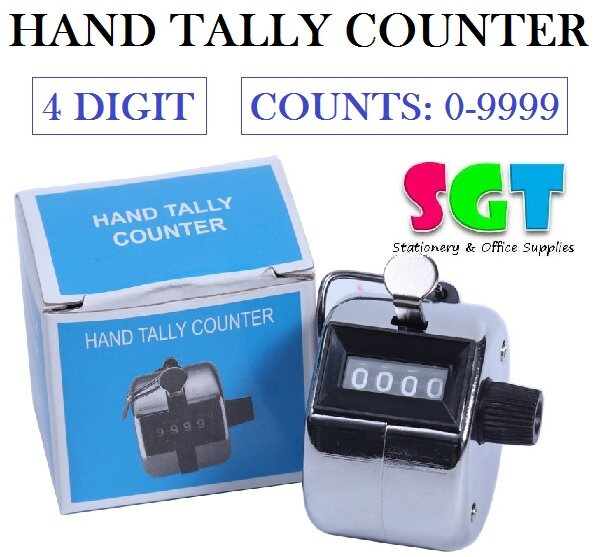 Hand Tally Counter 4 Digit ( Counts: 0-9999 )
