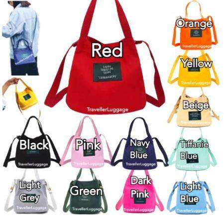 Malaysia - Casual Canva Label Sling Beg Tangan Handbag Bags Sling Shoulder Bag for Women Lady Perempuan Gift Hadiah for Ladies Student Gift Hadiah for Casual Dinner Cantik Girl Raya Korea Japan Ready Stock Travel