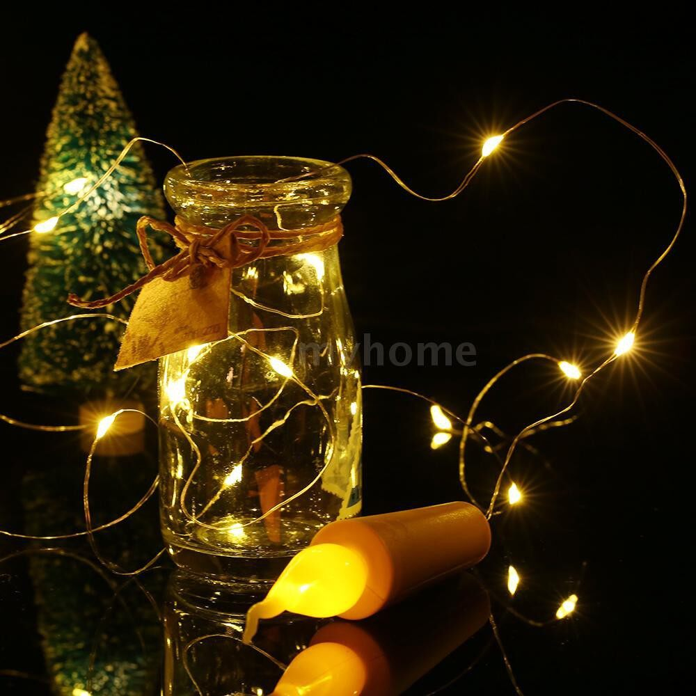 Lighting - 2 Meters 21 LED Cork Starry Fairy Copper Wire String LED Light 12 Pack Wine Bottle Lamp Battery - WARM WHITE-12 PIECE(s) / WARM WHITE-10 PIECE(s) / WARM WHITE-6 PIECE(s)