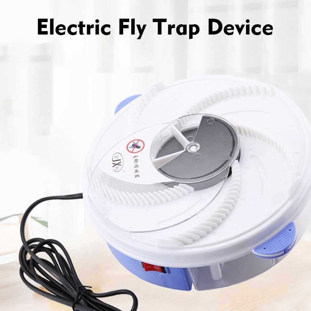 People's Choice Bug Zapper Mosquito Trap Electric Fly Killer Flycatcher Indoor Mosquito Killer Electric Insect Repellent for Mosquitoes Fruit Flies and Flying Gnats Automatic Rotating Charging/Solar (White)