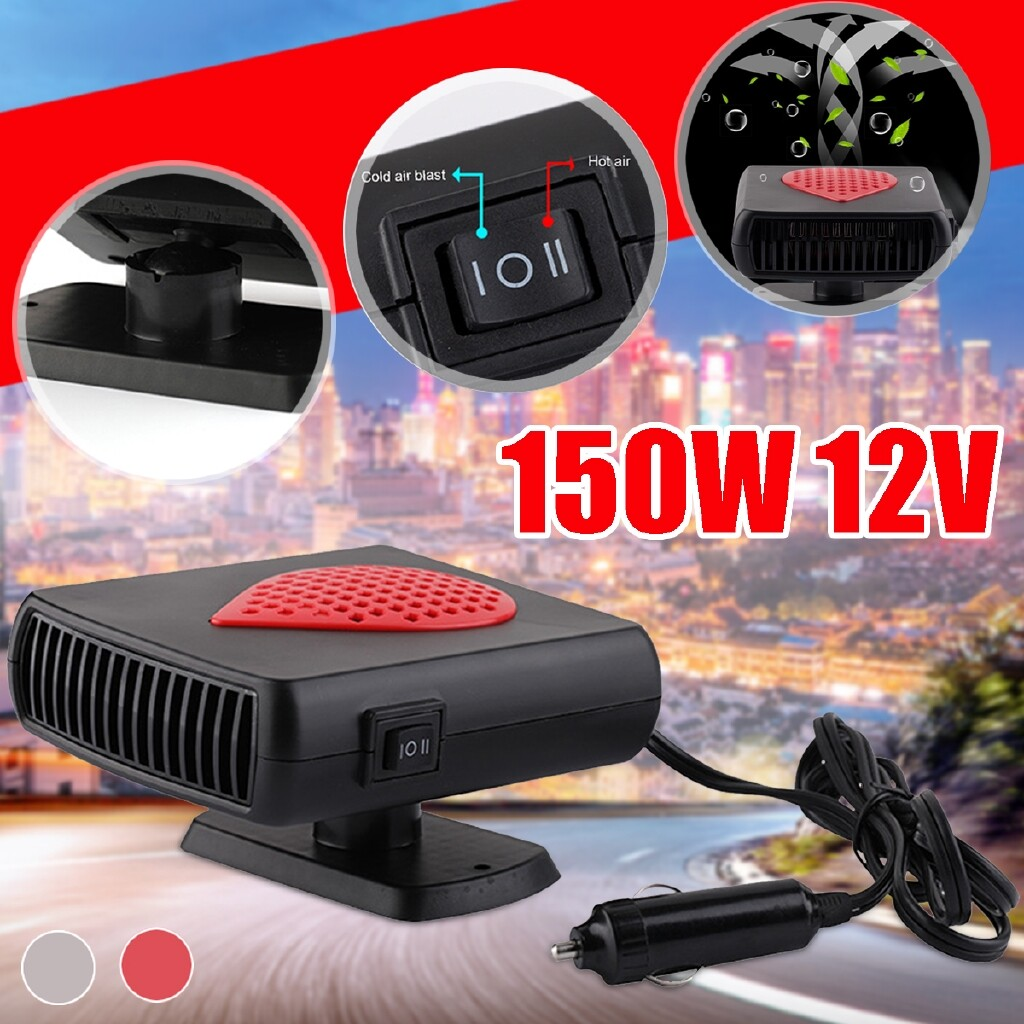 Automotive Tools & Equipment - 12V 150W Car Auto Heater Fan Defroster Demister Vehicle Heating Fans Windscreen - Car Replacement Parts