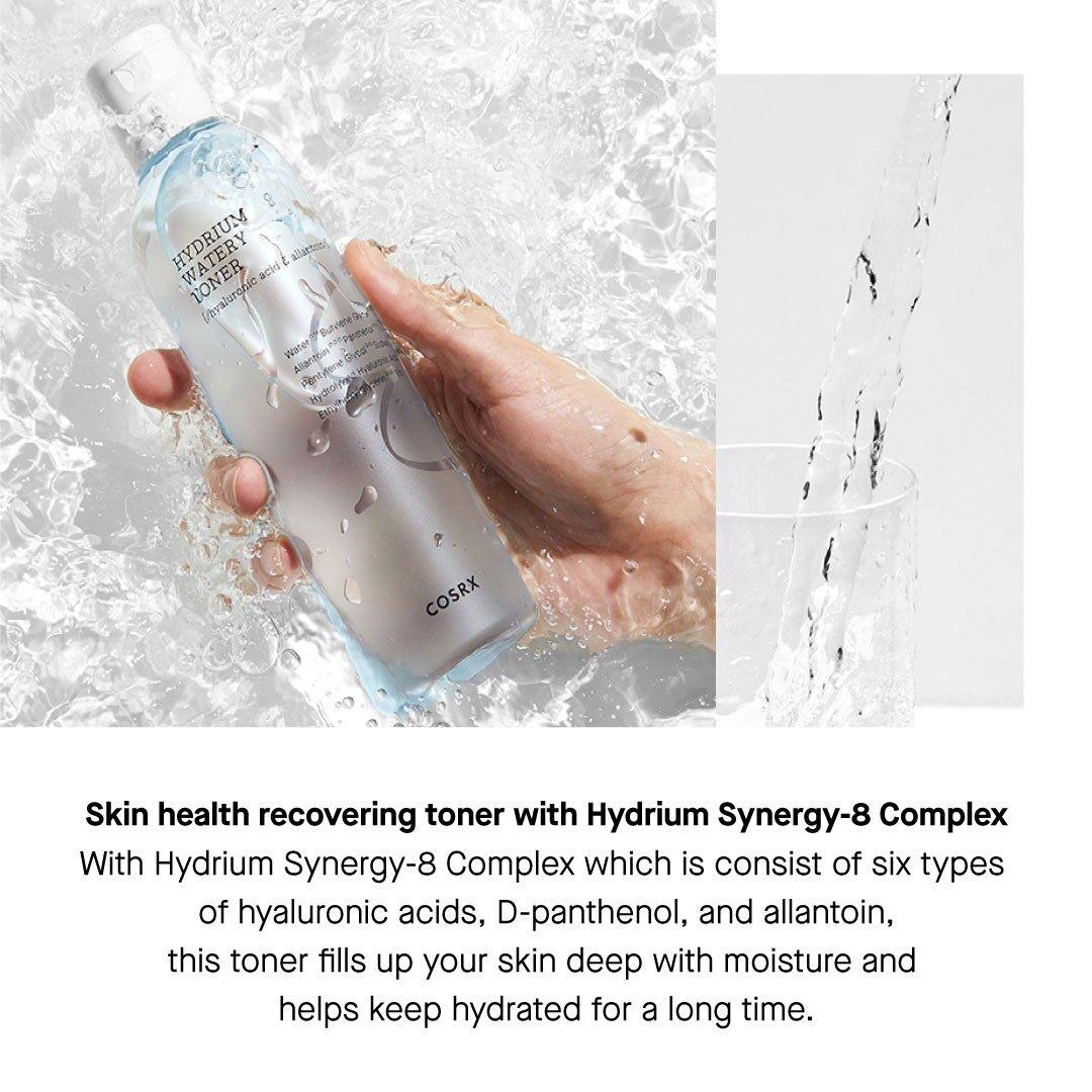 COSRX Hydrium Watery Toner 150ml Hyaluronic Acid Glowing Skin Moisturising Hydrating Korean Skincare Beauty Local Warehouse Ready Stock Original 50ml