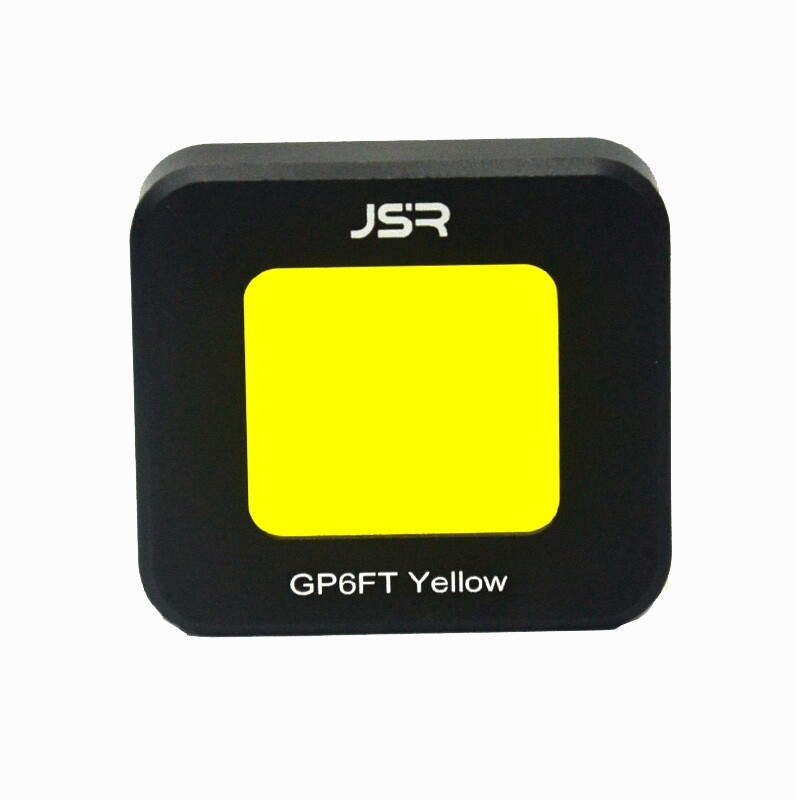 Lens Filters - JSR Lens Filter Cover for Gopro 6 5 Sport Camera ORIGINAL Waterproof Case - YELLOW / PURPLE / RED