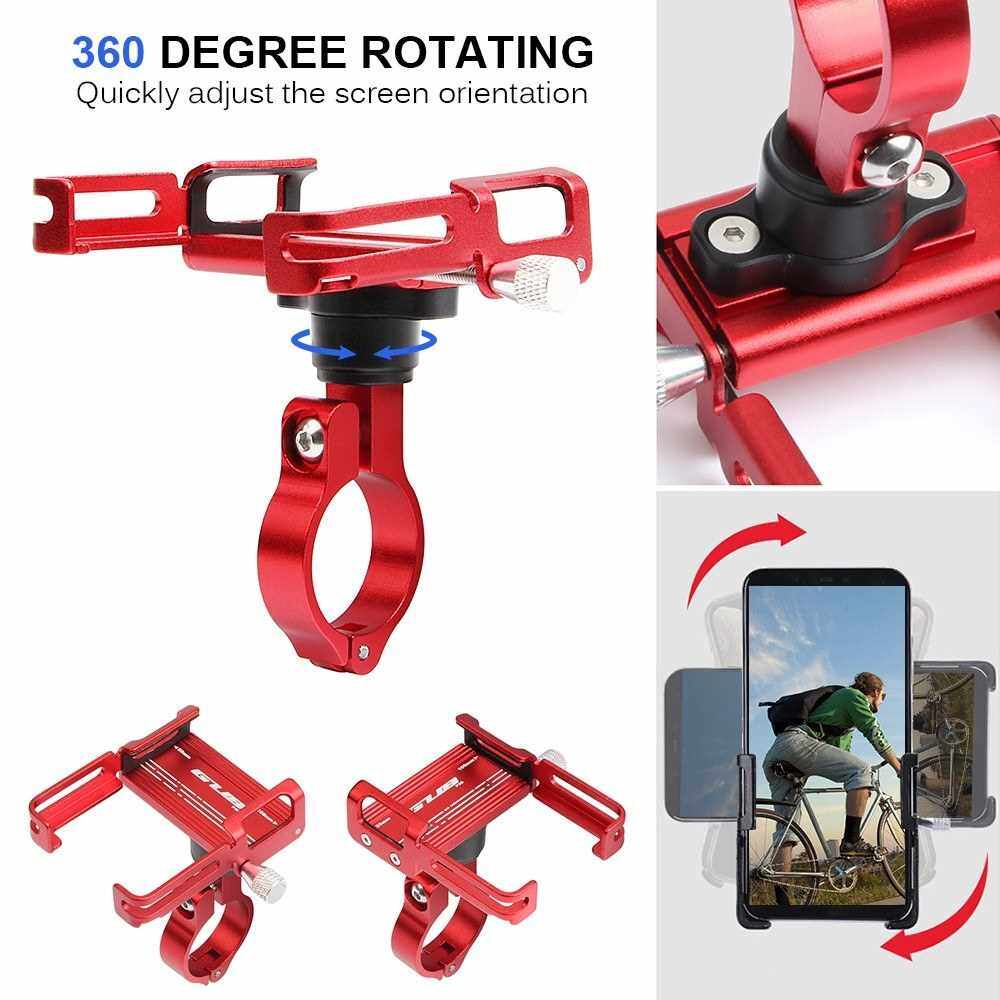 Best Selling 360 Degree Rotating Mountian Bike Phone Mount Universal Adjustable Bicycle Handlebar Cell Phone GPS Mount Holder Bracket Cradle Clamp (Red)