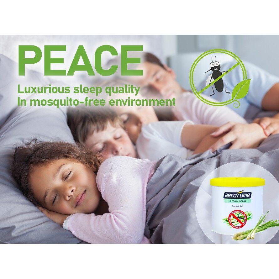 Lemon Grass Mosquito Repellent Scented Gel Air Freshener 70g Car Perfume Relaxing Aromatherapy Ubat Nyamuk Pewangi