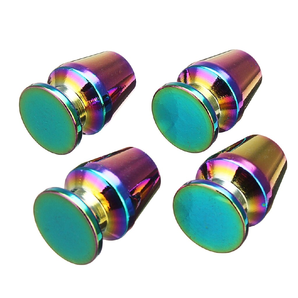 Engine Parts - 4 PIECE(s) Universal Car Tyre Tire Valve Stem Caps Wheel Valve Cover Neon Multi Color - Car Replacement