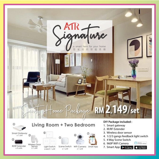 Smart Home - Living room + Two bedroom ( Starter Kit )