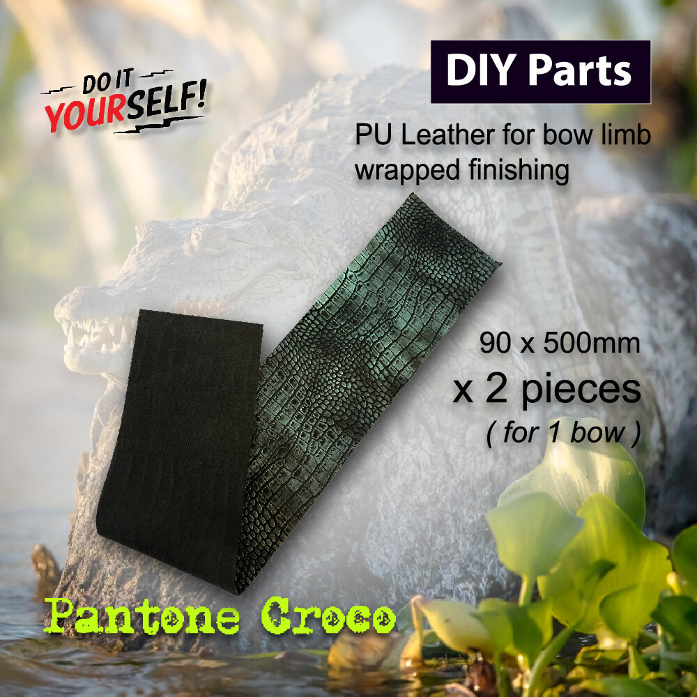 DIY Parts - Decorated Pantone Croco PU Leather For Traditional Bow Making Bow Limb Finishes Arrouha
