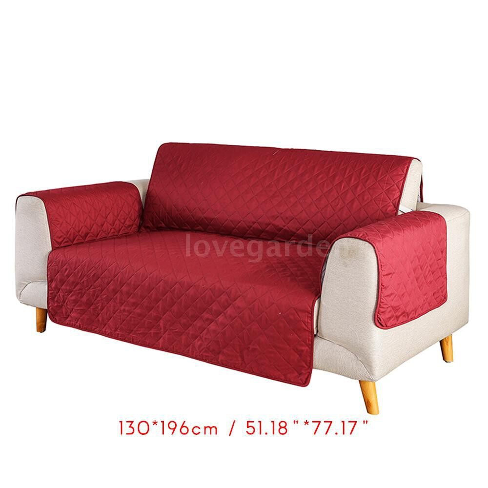 Festive Decor - Sofa Cover Reversible Couch Slipcover Dog Pet Sofa Cover Couch Slip Cover for Pets Kids Cats - KHAKI-LOVE SEAT / GREEN-LOVE SEAT / COFFEE-LOVE SEAT / RED-LOVE SEAT / RED-THREE SEAT / KHAKI-THREE SEAT / COFFEE-THREE SEAT / GREEN-THREE