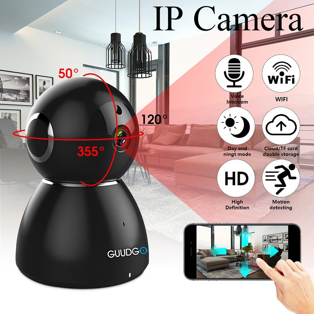 IP Security Cameras - GUUDGO Snowman 1080P HD Cloud Pan&Tilt WiFi IP Camera Night Vision Motion Detect - Systems