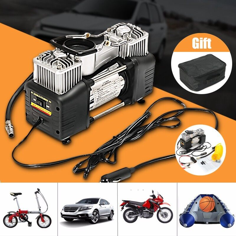 Automotive Tools & Equipment - PORTABLE 12V 150PSI Dual Cylinder Air Compressor Pump Car Truck Tyre Inflator - Car Replacement Parts